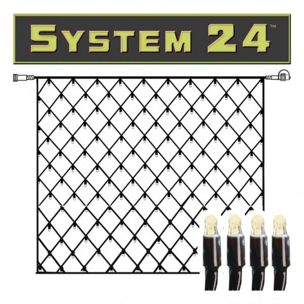 System 24   LED-Lichternetz   koppelbar   exkl. Trafo   1.00 x 1.00m   42x Warmweiß
