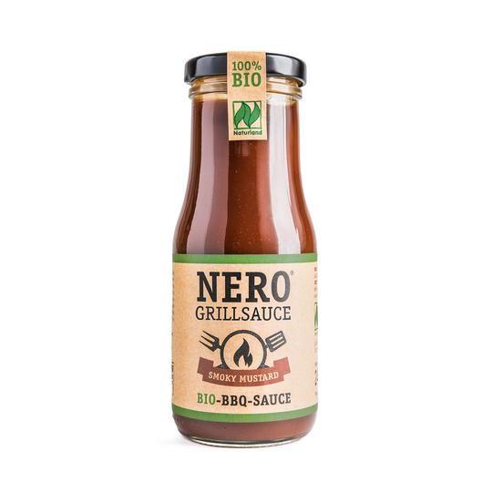 NERO BIO Grillsauce - Smoky Mustard - pikant rauchig mit feiner Senfnote - 250 ml