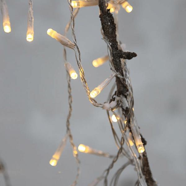 LED-Lichterkette | Serie LED | Outdoor | Transparentes Kabel | warmweiße LED | 16m | 160x LEDs