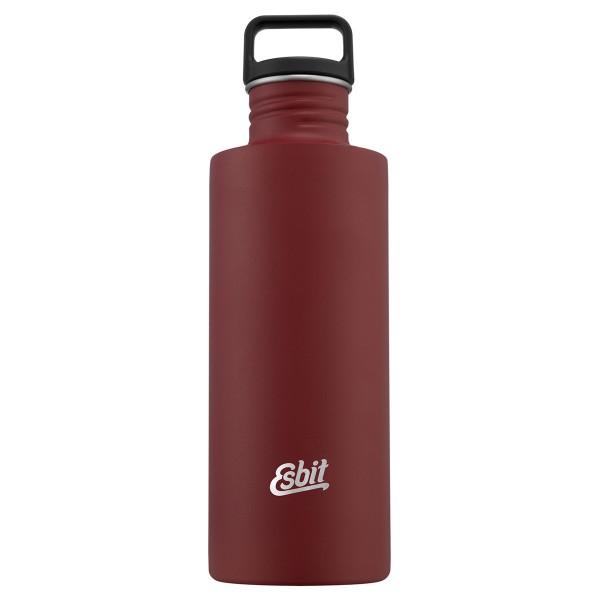 ESBIT SCULPTOR Edelstahl Trinkflasche, 1L, Burgundy Red