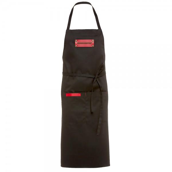 FEUERMEISTER BBQ Textil-Schürze schwarz mit 2 Taschen und Logo