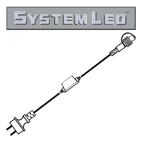 System LED White   Start-Trafo   koppelbar   1,80m   max. 400W bzw. 100 System-Meter