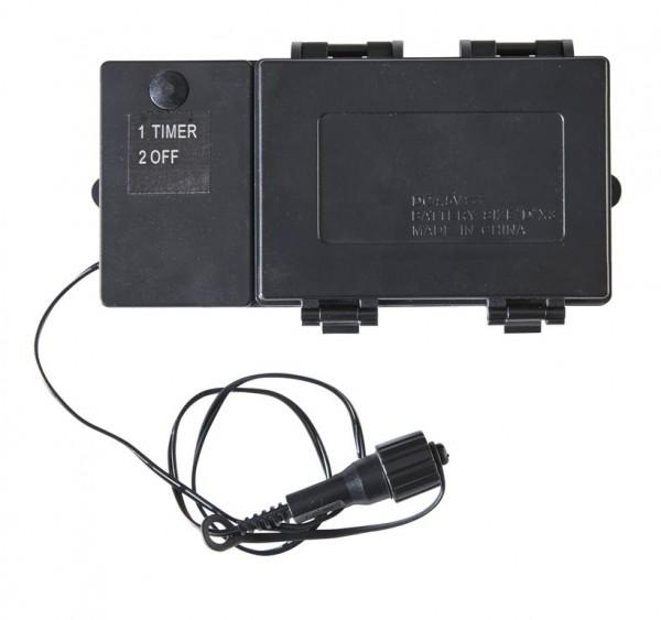 Batteriefach | Serie LED | Outdoor | Schwarzes Kabel | Timer