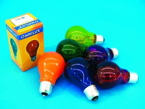 Glühlampe - Omnilux A19 - E27 - 40W - Blau