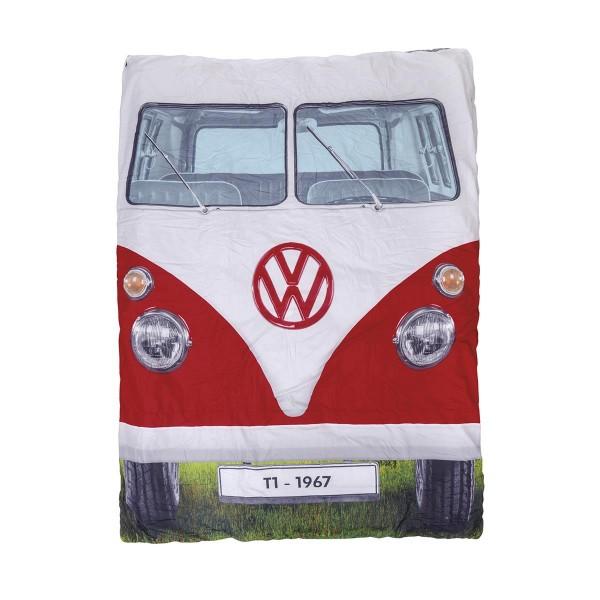 VW Collection - T1 Bulli Doppel Schlafsack - 2 Jahreszeiten - +5°C bis +15°C - Pongee Gewebe