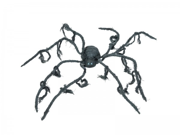 Große, bewegte Halloween Spinne, animiert, 110x8cm - Bewegung, blinkende Augen, Geräusche
