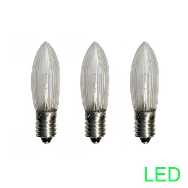 LED-Leuchtmittel  E10   10-55V   0,2W   Warmweiß 2100K   klar   3er Set