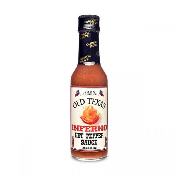 Old Texas Inferno Hot Pepper Sauce 148ml für den extra scharfen Kick