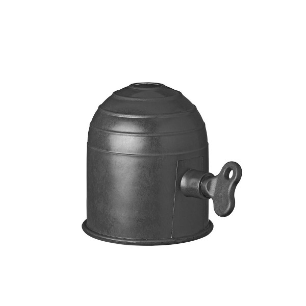 Abdeckkappe Anhängerkupplung - Kunststoff - schwarz mit Schloss