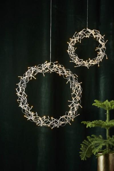 LED-Kranz - Curly Line Indoor - transparent - Ø 50cm - 136x Warmweiß - Inkl. Netzteil