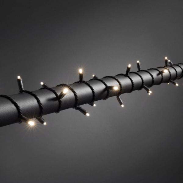 LED Microlichterkette - LED Expert - 3,90m - 40x Warmweiß - Schwarzes Softkabel - Outdoor - Dimmer