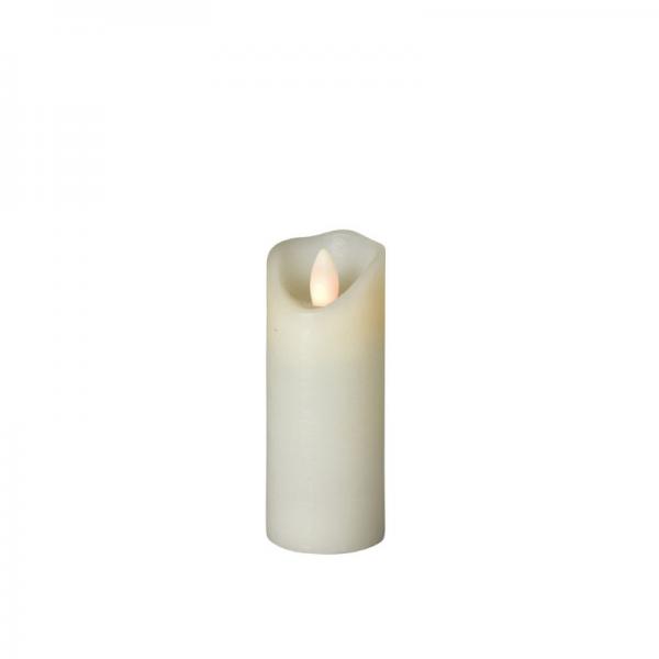 SOMPEX LED Wachskerze SHINE schmal | elfenbein | frost | D: 5cm H: 12,5cm | fernbedienbar | Timer