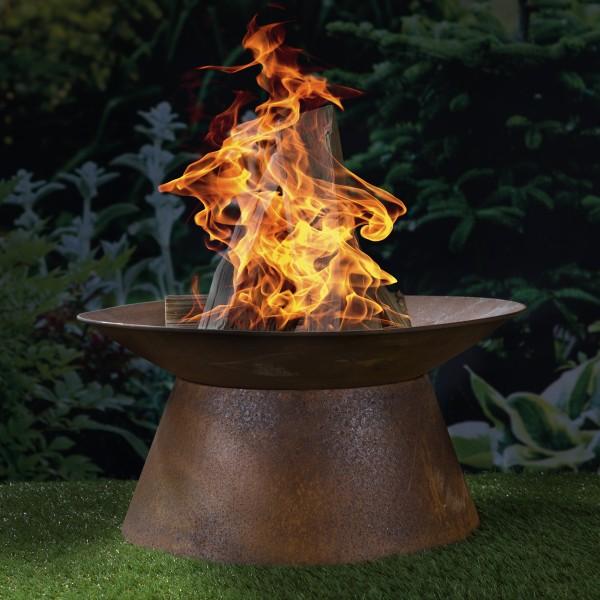 Feuerschale - Rost-Look - 50 x 50 x 25cm - Metall