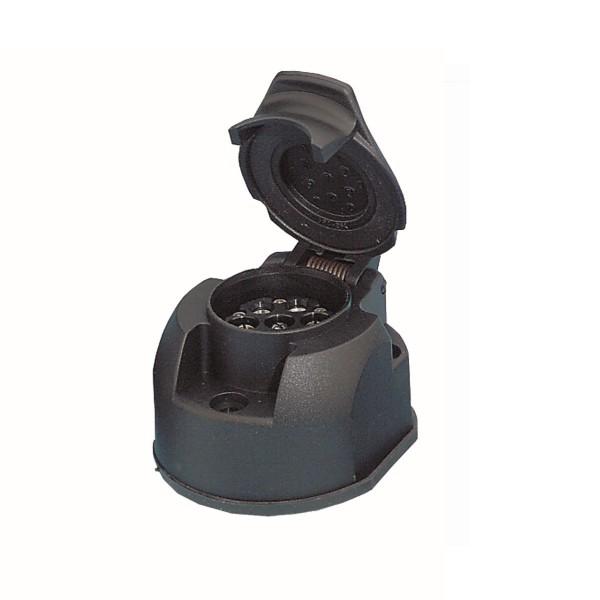 WEST 13K-Steckdose - kompatibel mit 7pol Stecker - Abschaltautomatik für Nebelleuchte