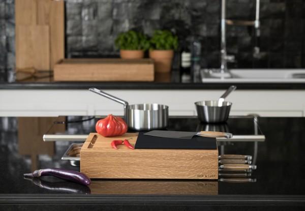 Jack & Lucy - Workstation ONE Extra Large - 75x40cm - inkl. Schneidebrett - Gastronorm Behälter