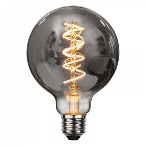 Leuchtmittel | LED | Filament | SPIRAL | E27 | Dimmbar | Kugel | D: 95mm | Smoked Glas