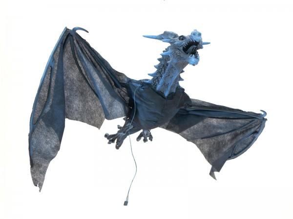 FLYING DRAGON - animierte Halloween Dekoration mit Licht- und Geräuscheffekten - 120cm - Sensor