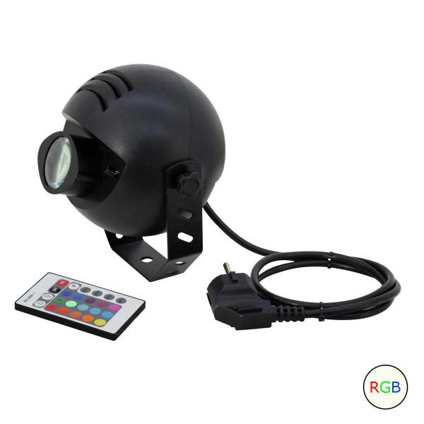 LED Pinspot - Punktstrahler für Discokugeln - Farbwechsler mehrfarbig - Spiegelkugel Spot - inklusive Fernbedienung