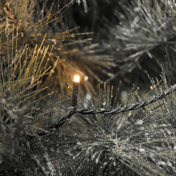 LED Microlichterkette - Outdoor - 19,04m - 120 x Hellweiß - schwarzes Kabel -10m Zuleitung - Trafo