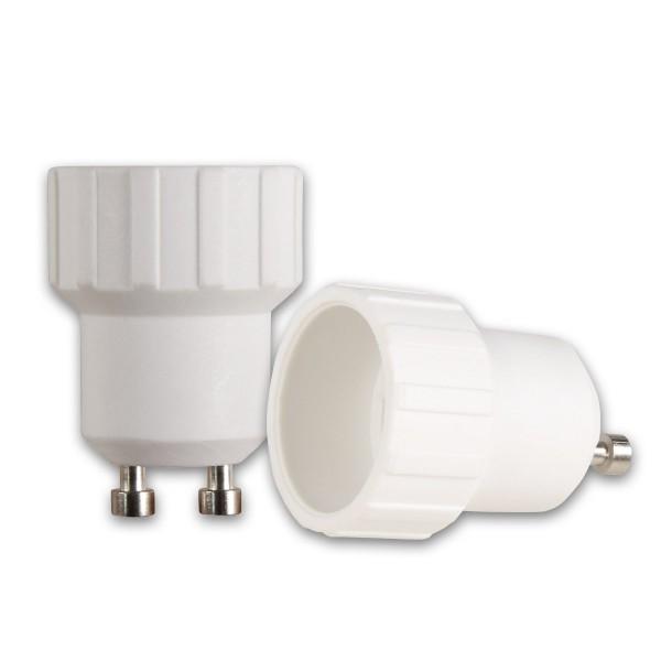 Lampensockel Adapter für Leuchtmittel - max 100W - GU10 auf E14