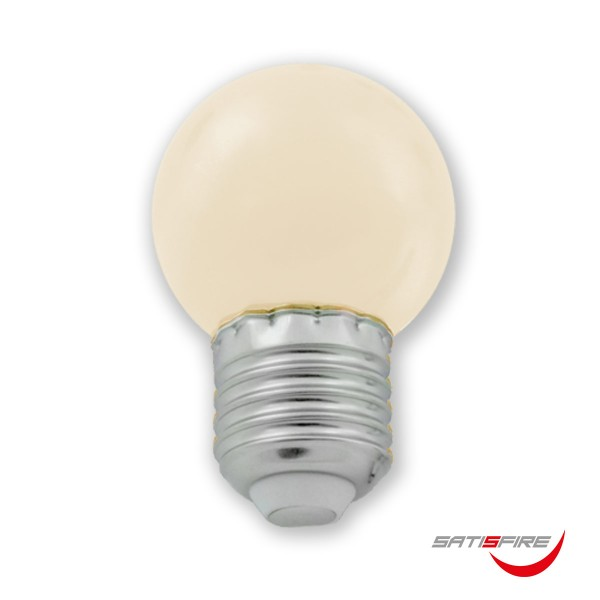 LED Leuchtmittel G45 - warmweiß 2700K - E27 - 1W | SATISFIRE