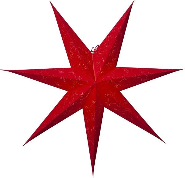 """Papierstern """"Decorus"""", 7zackig Farbe rot, ca. 75 cm Ø, ohne Kabel Geschenkbox"""