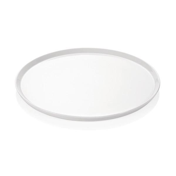Pizzateller 32cm flach - weißes Porzellan - spülmaschinenfest