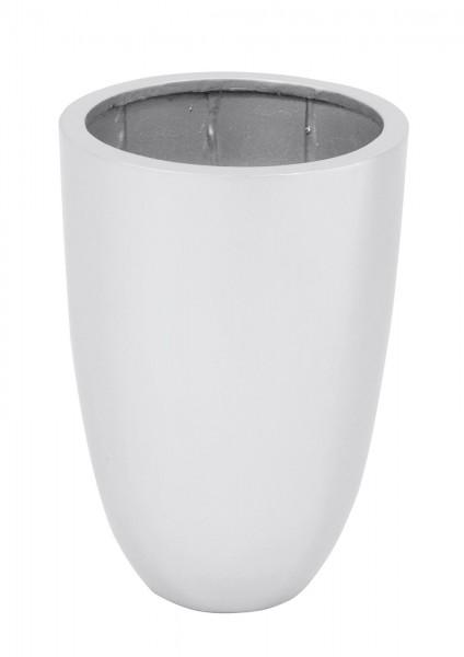Übertopf - Dekotopf - silber glänzend - 49cm hoch - 34cm Durchmesser - verstärkt