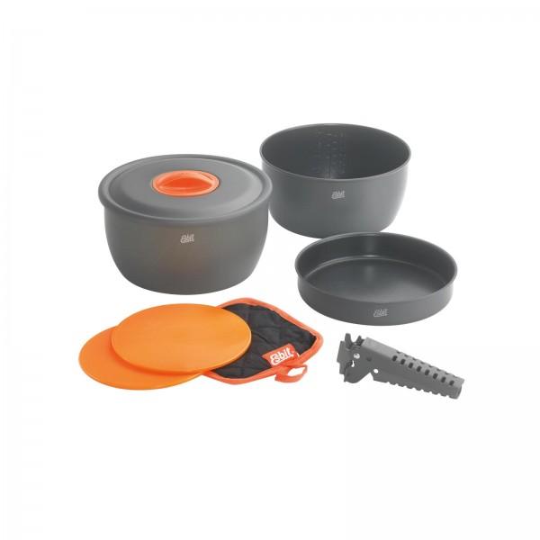 ESBIT Aluminium-Kochset 8-tgl., mit Antihaftbeschichtung