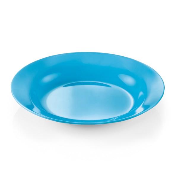 Campingteller SUMMER - Melamin - 20cm tief - blau