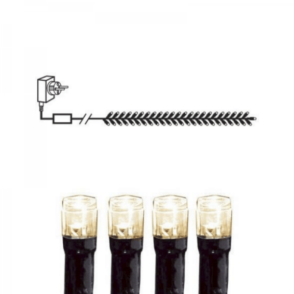 Lichtergirlande   Serie MICROLED 3mm   2,3m   schwarzes Kabel   384 warmweiße LEDs   Trafo
