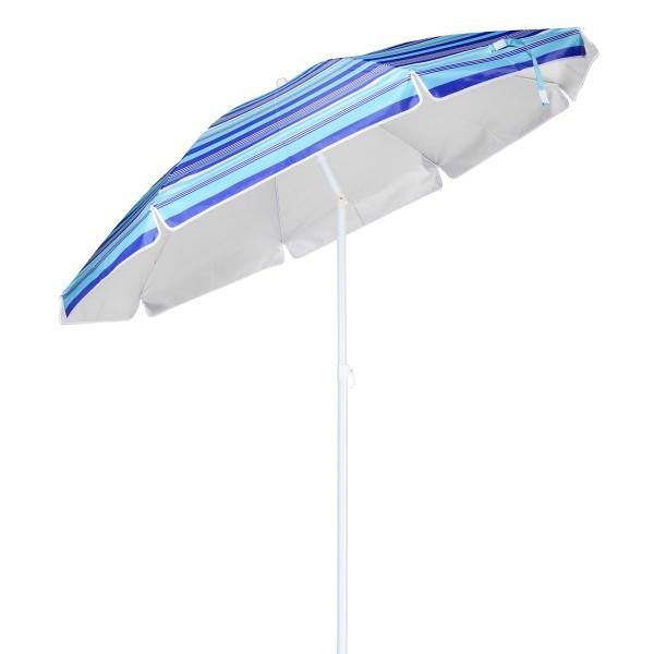 Sonnenschirm - D: 180cm - 50+ UV Schutz - blau gestreift