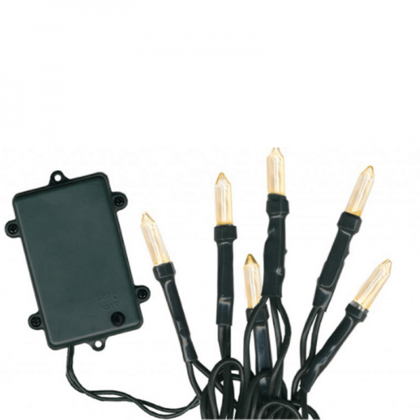LED-Lichterkette - Garden Line Outdoor - Batterie - Timer - Controller - 7,20m - 96x Warmweiß