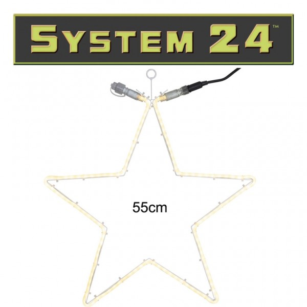 System 24   Stern 55cm   120 warmweiße LEDs   koppelbar   exkl. Trafo
