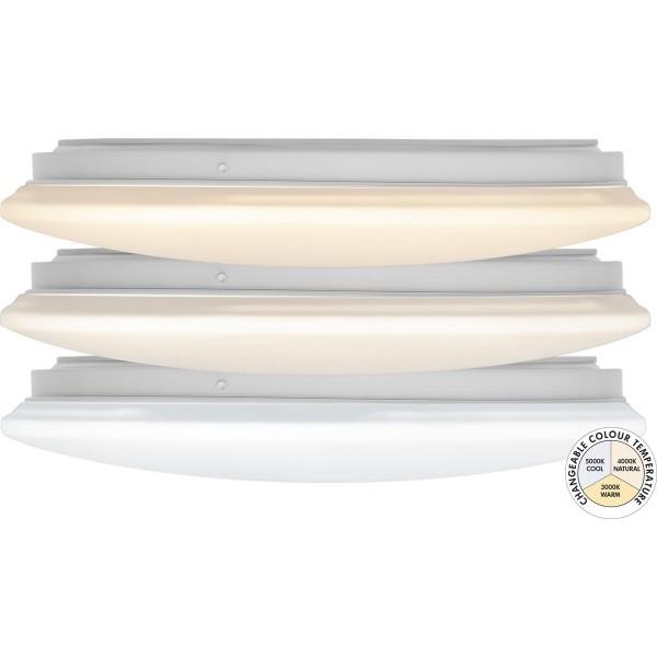 """LED Deckenleuchte """"Integra"""" - D: 33cm - 15W - 36 kalt/-warmweiße LED - 3000-5000K - 1470lm - weiß"""