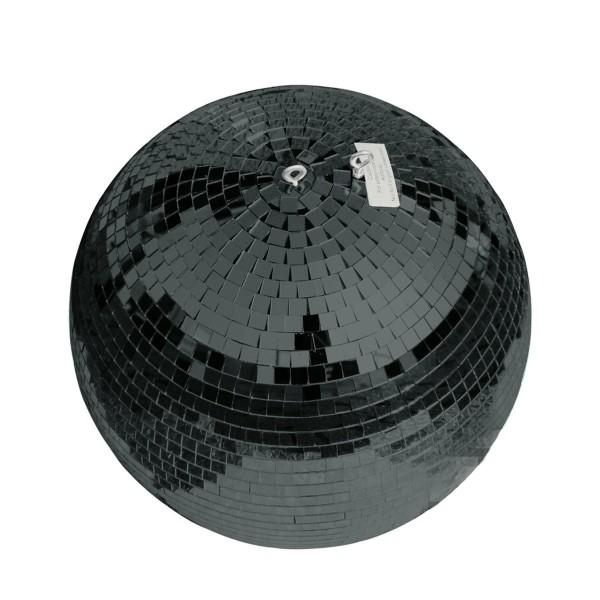 Spiegelkugel 40cm - schwarz - Safety - Diskokugel Echtglas - 10x10mm Spiegel PROFI