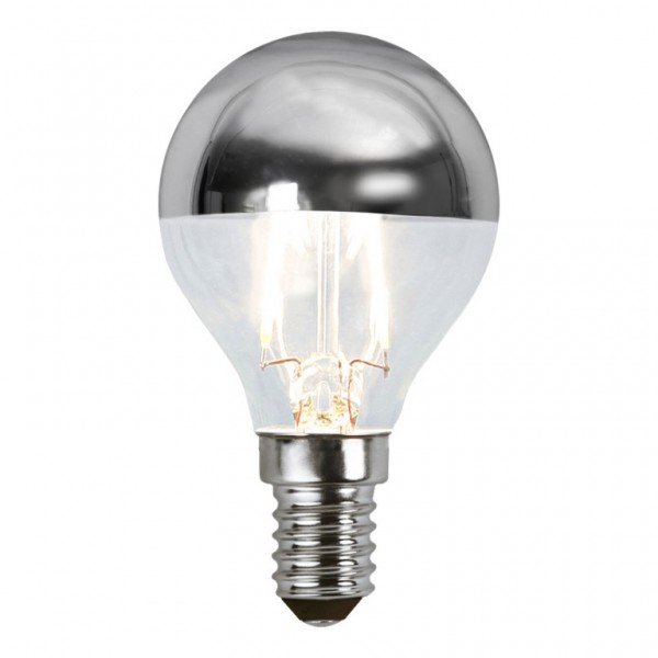 LED Leuchtmittel FILA TOP COATED silber P45 - E14 - 1,8W - WW 2700K - 180lm