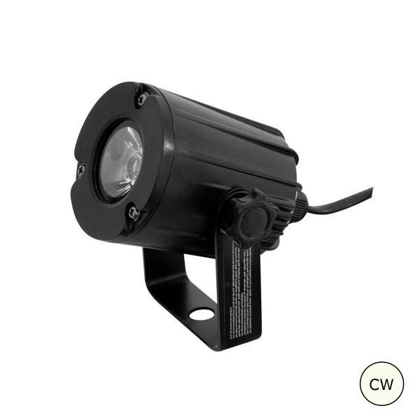 LED Pinspot - Punktstrahler für Discokugeln - kaltweiss 6000K - Spiegelkugel Spot