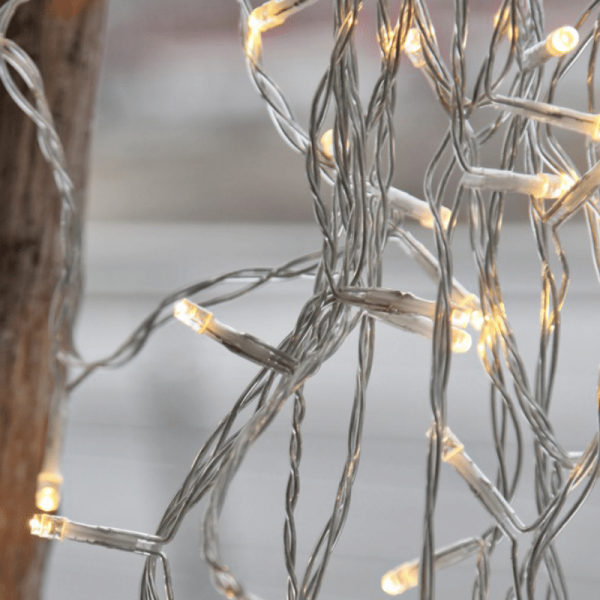 LED Microlichterkette - LED Pure - 6,24m - 40x Warmweiß - Transparentes Kabel - Outdoor