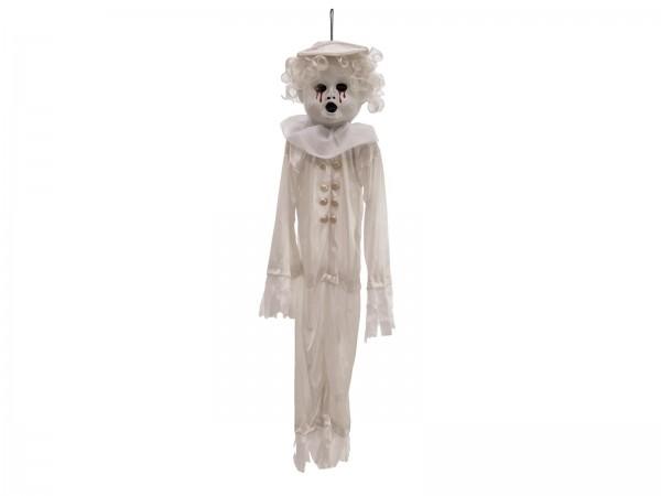 Halloween Puppe, 90cm - Hängende Figur mit blutigen Augen