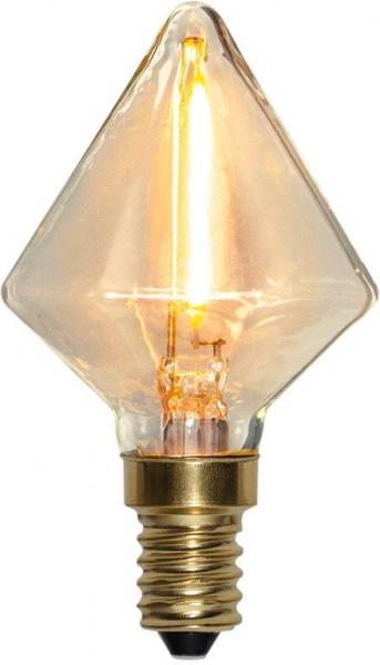 LED DEKO Leuchtmittel DIAMANT - E14 - 0,8W - warmweiss 2200K - 45lm - dimmbar