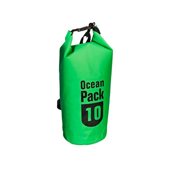 OCEAN PACK 10 Liter grün - wasserfester Beutel