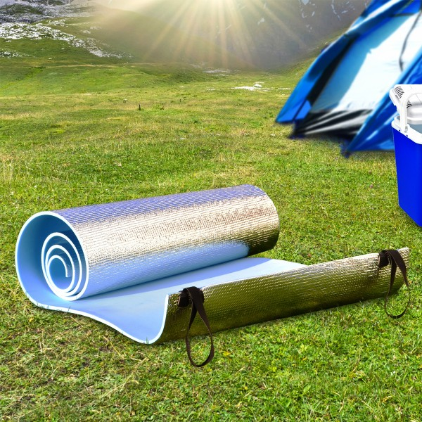Isomatte - Alubeschichtung - 180 x 50 x 0,6cm - Blau