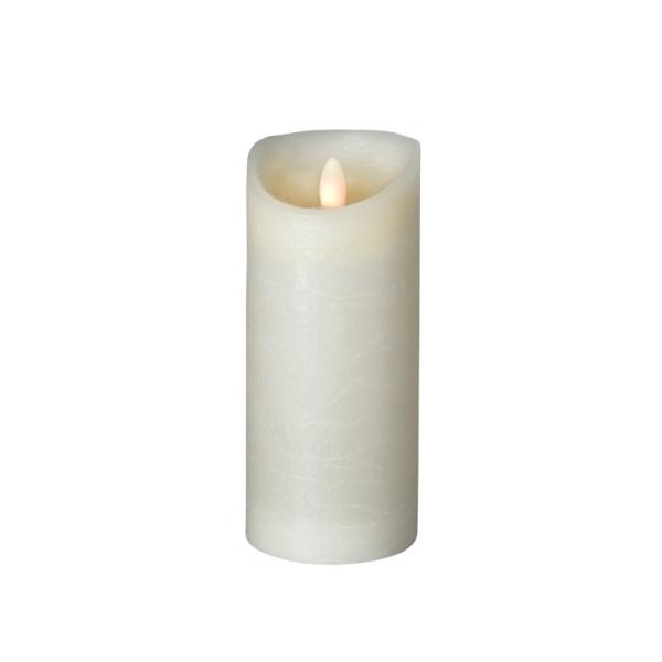 SOMPEX LED Wachskerze SHINE | elfenbein | gefrostet | D: 7,5cm H: 17,5cm | fernbedienbar | Timer