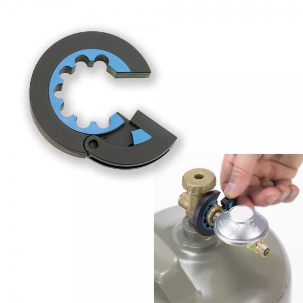 Gasflaschen GASLOCK Werkzeug- praktisches Tool für den Gasflaschenanschluss - Flügelmutterwerkzeug