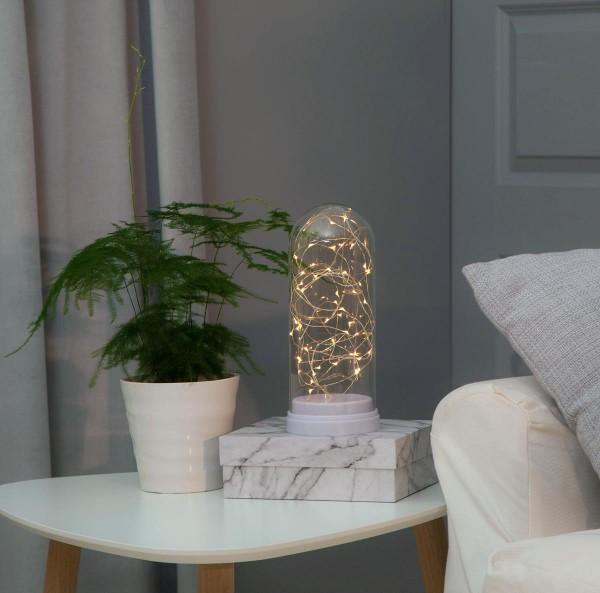LED-Lichterkette im Glas WS - FlexiLine Indoor - Batterie - Timer | →11 x ↑26cm - 50x Warmweiß