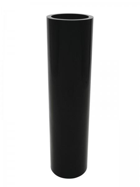 Übertopf schwarz glänzend - 120cm hoch - 30cm Durchmessser - aluminiumverstärkt