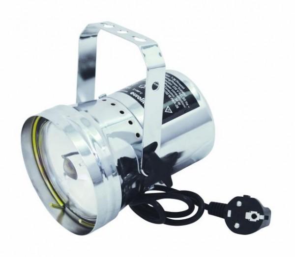 PAR 36 Strahler mit Netzkabel und Lampe - Chrom