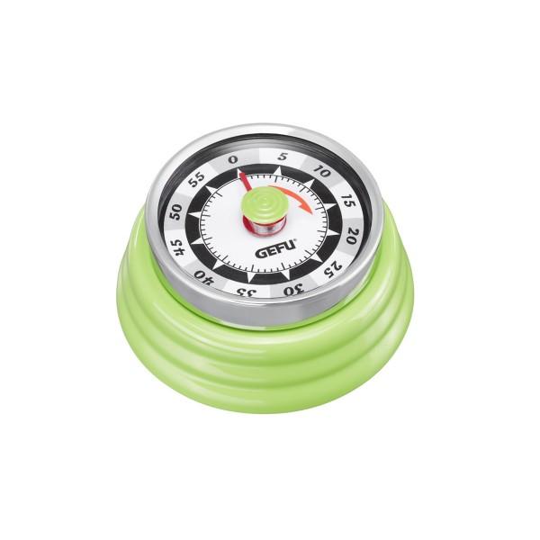 Küchentimer Kurzzeitmesser RETRO grün - mechanisch - magnetisch