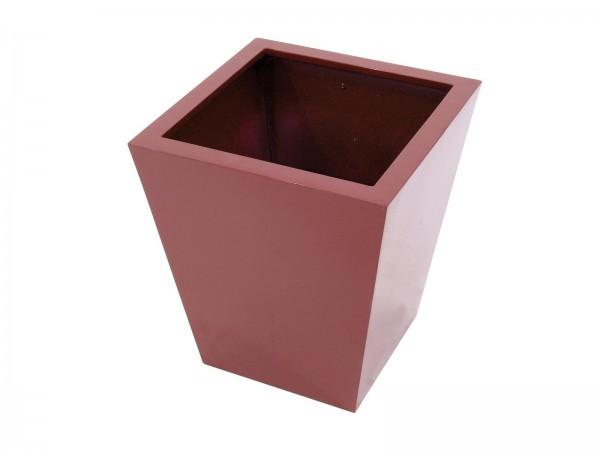 Übertopf leicht - basic-50 - rot - glänzend - konische Form - aluminiumverstärkt